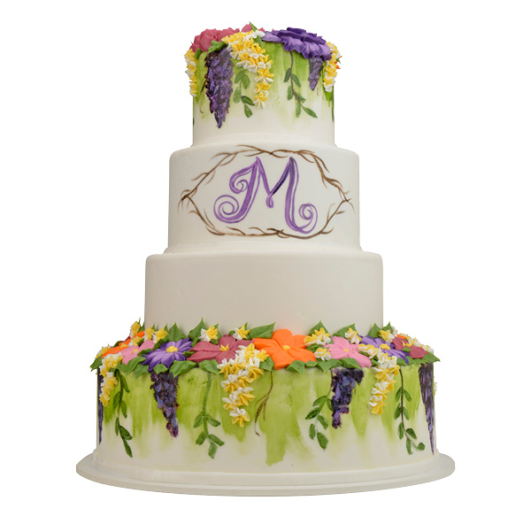 Spring-inspired painted floral cake. Merritt's Bakery, Tulsa. Photo by Natalie Green.