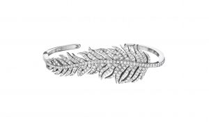 Penny Preville 18WG feather bangle, $8,990, Bruce G. Weber Precious Jewels