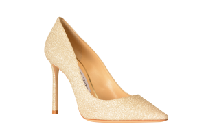 Jimmy Choo gold glitter heel, $595, Saks Fifth Avenue