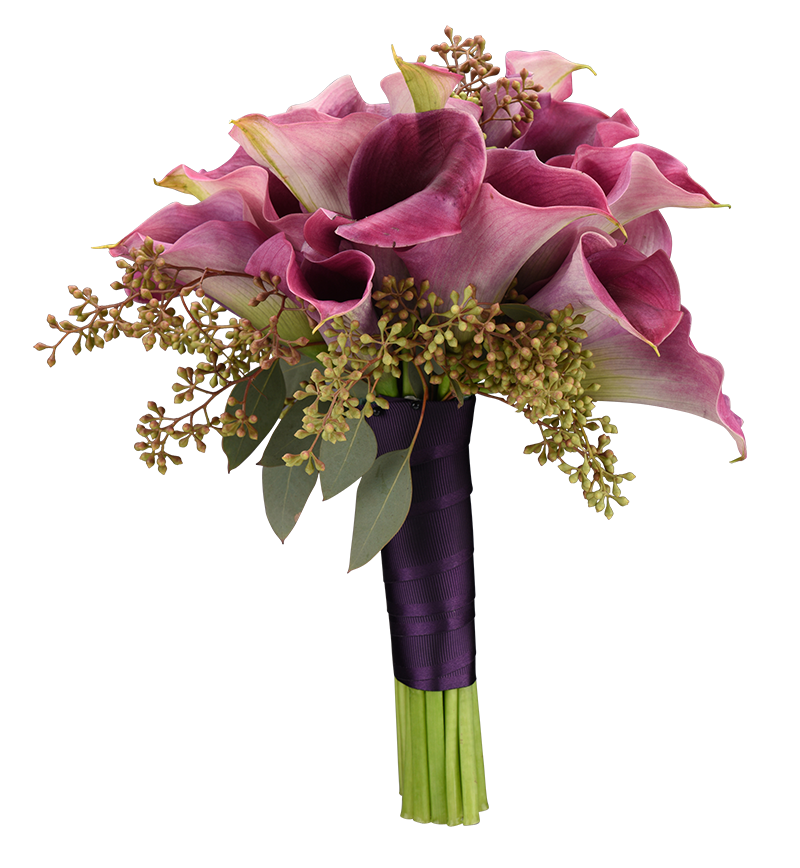 Out Of The Box Bouquet With Purple Calla Lilies Toni S Flowers And Gifts Tulsa. Petal Pushers Oklahoma Wedding Show